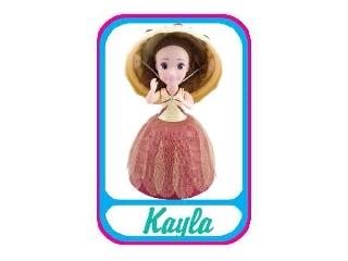 Meglepi fagyikehelybaba - Kayla (krémszín-bordó)