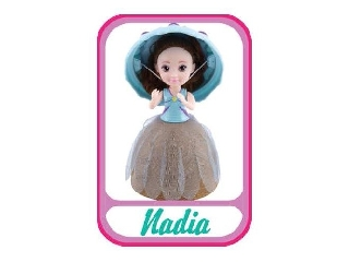 Meglepi fagyikehelybaba - Nadia (világoskék-barna)