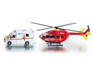 Mentő+helikopter 1:87