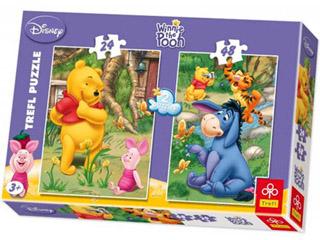 Micimackó puzzle mix 24-48 db-os 2 az 1-ben puzzle