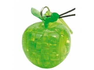 Mini 3D Kristály kirakó - Zöldalma puzzle