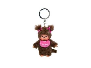 Monchhichi Kulcstarto 10 cm-es - rózsaszín lány