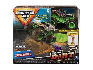 Monster Jam és homokgyurma pályaszett - Grave Digger