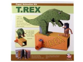 Mozgó papírjáték - T-Rex