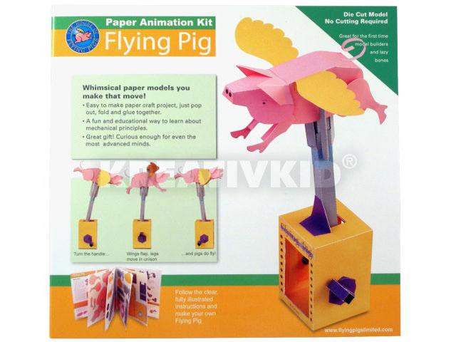 Mozgó papírjáték - Repülő malac