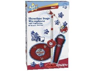 Bontempi: Toy Band Star Állványos mikrofon, csatlakoztatható kábellel - piros-fehér
