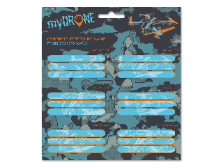 MyDrone csomagolt füzetcímke (3x6 db)