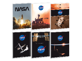 NASA A/4 extra kapcsos füzet-vonalas