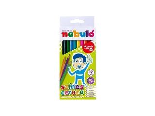 Nebuló - Színes háromszögletű ceruza készlet, 12 különböző szín
