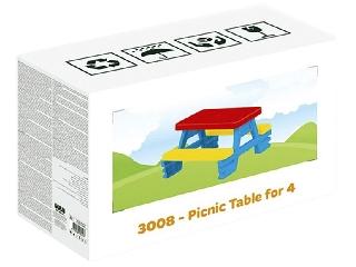 Négyszemélyes piknik asztal - 71 x 77 x 43 cm