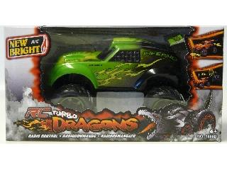 New Bright - Turbo Dragons távirányítós autó 1:18 RC F.F. - zöld
