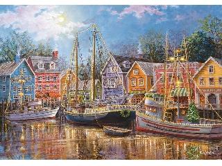 Nicky Boehme: Kivilágított hajók 1500 db-os puzzle
