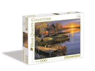 Őszi naplemente a tónál 500 db-os puzzle