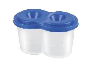 Pantaplast - Duo ecsettál fedéllel: kék