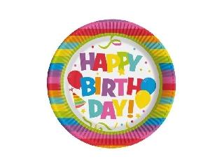 Papírtányér / 10 db Happy Birthday