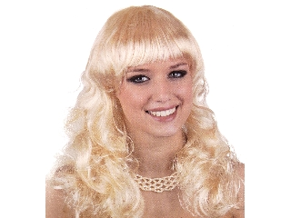 Paróka - hosszú göndör haj - szőke