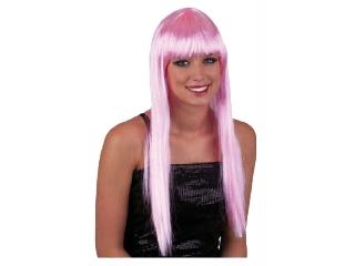 Paróka - hosszú haj - rózsaszín