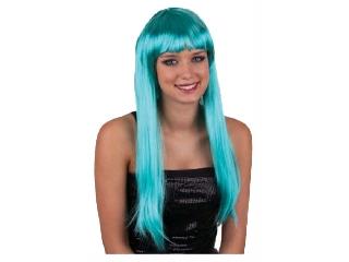 Paróka - hosszú haj - türkiz