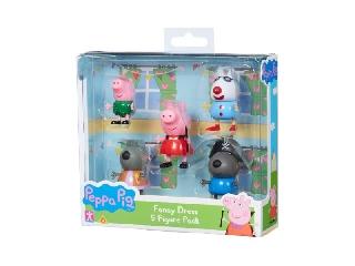 Peppa malac 5 db-os figura készlet - jelmezes