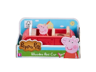 Peppa malac fajáték - autó és Peppa