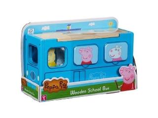 Peppa malac fajáték - iskolabusz 3 figurával