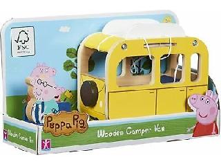 Peppa malac fajáték - lakókocsi és Papa malac