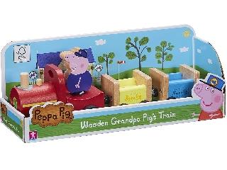 Peppa malac fajáték - vonat és Nagypapi