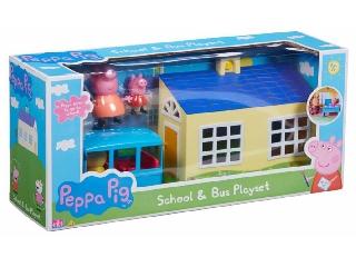 Peppa malac iskola és busz készlet