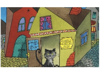Pincérfrakk utcai cicák diafilm