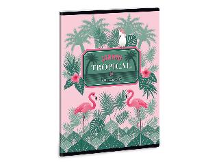 Pink flamingo füzet vonalas A/5