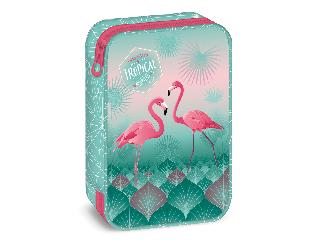 Pink flamingo többszintes tolltartó