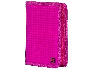 Pixie cipzáros tolltartó - rózsaszín, pöttyös