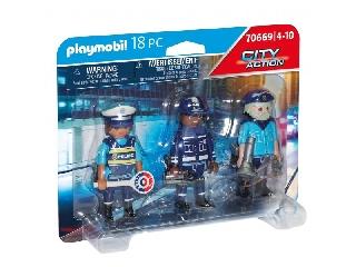Playmobil: Rendőrfigurák szettben