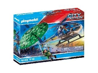 Playmobil: Rendőrségi helikopter - Ejtőernyős-üldözés