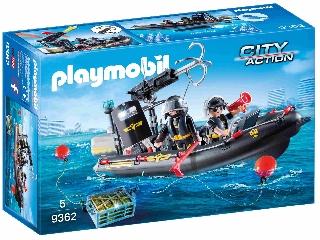 Playmobil Speciális egység gumicsónakja 9362