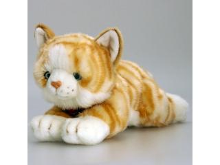 Plüss macska vörös csíkos 30 cm