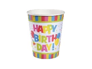Pohár / 10 db Happy Birthday