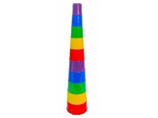 Pohárépítő játék piramis 10 részes