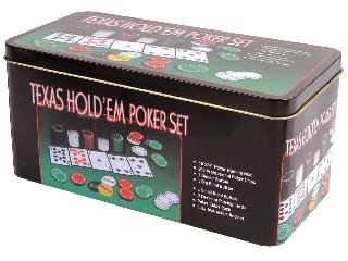 Póker szett fémdobozban