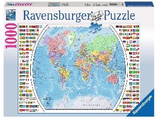 Politikai világtérkép 1000 darabos puzzle