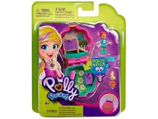Polly Pocket picuri játékszett rózsaszín virágos