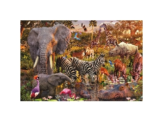 Afrikai állatok 3000 darabos kirakó