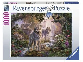 Puzzle 1000 db - Farkascsalád nyáron