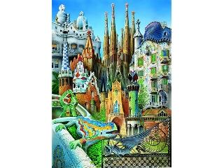 Gaudi világa - 1000 darabos mini kirakó