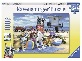 Puzzle 100 db - Kutyák a strandon