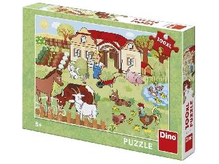 Puzzle 100XL - Állatok a tanyán