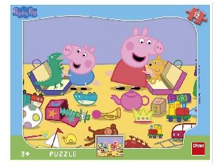 Puzzle 12 db - Peppa