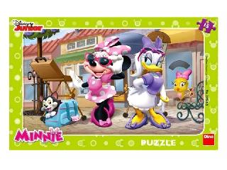 Puzzle 15 db - Minnie Párizsban