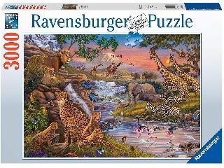 Puzzle 3000 db - Állati Királyság