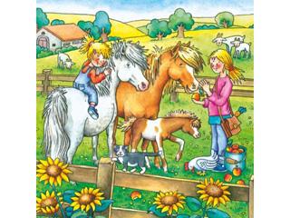 Állatok a tanyán  3×49 darabos kirakó